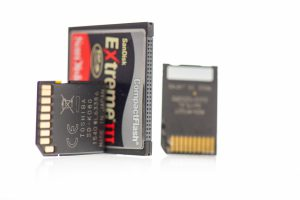 Cartes mémoire photo compact Flash, SD, Micro SD, adaptateur...