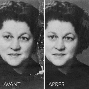 retouche professionnel d'image dans PS - restauration de photo anceinne - Photo Bilande Florennes